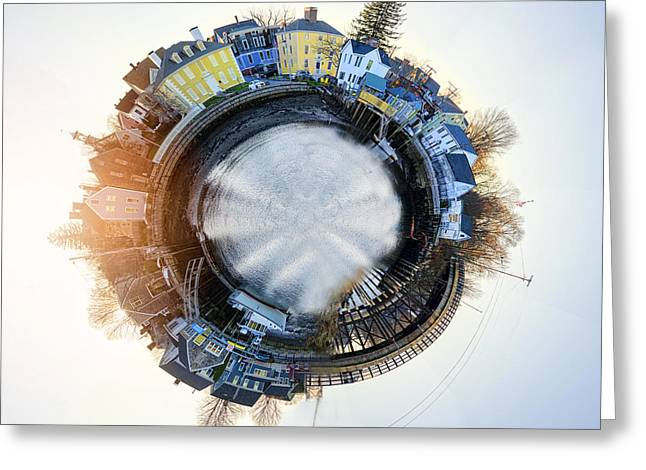Portsmouth Tiny Planet Greeting Card