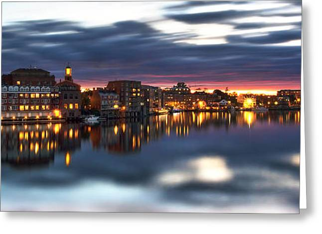Portsmouth Waterfront Panorama Greeting Card