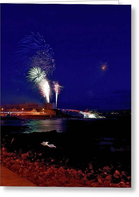 Portstewart Fireworks Greeting Card