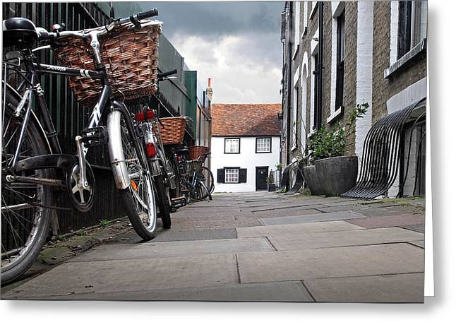 Greeting Card featuring the photograph Portugal Place Cambridge by Gill Billington