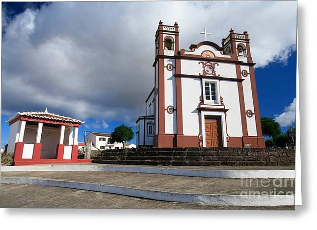 Portuguese Church Greeting Card by Gaspar Avila