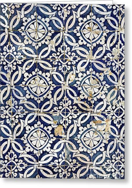 Portuguese Glazed Tiles Greeting Card by Gaspar Avila