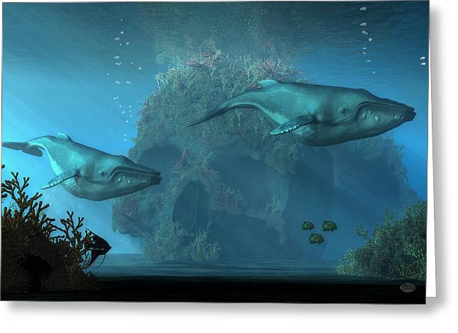 Greeting Card featuring the digital art Poseidon's Grave by Daniel Eskridge