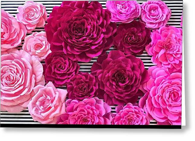 Posh Pink  Greeting Card by The Painted Petaler