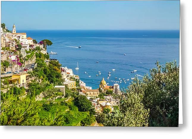 Positano, Amalfi Coast, Campania, Italy Greeting Card