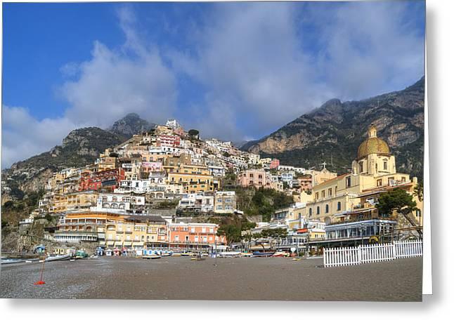 Positano - Amalfi Coast Greeting Card by Joana Kruse