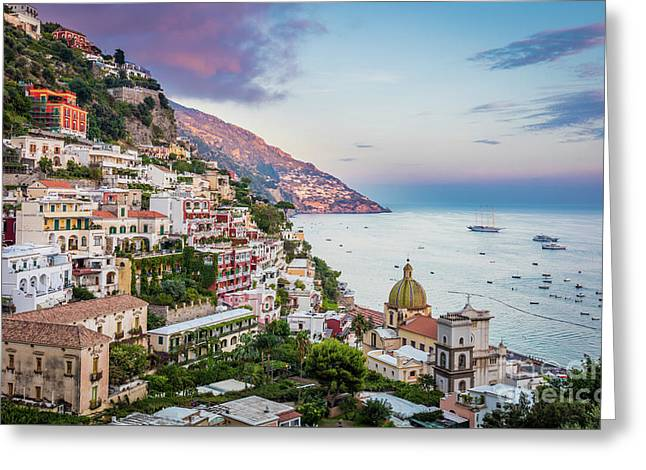 Positano Dawn Greeting Card