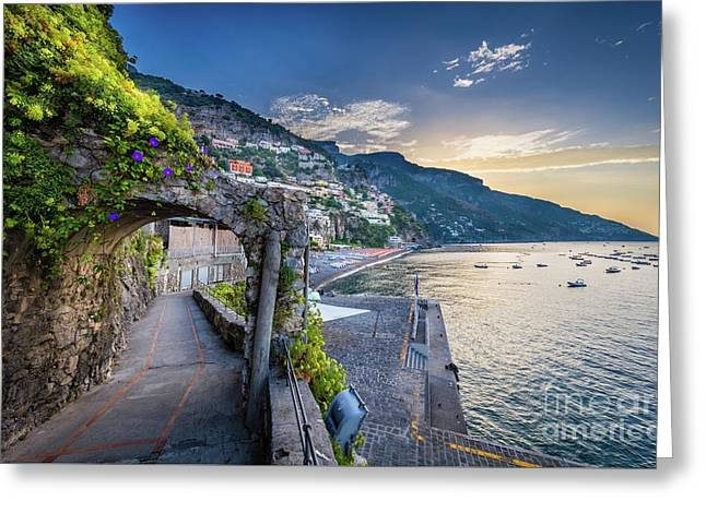 Positano Pathway Greeting Card