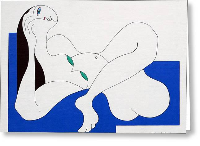 Position Women  Greeting Card by Hildegarde Handsaeme