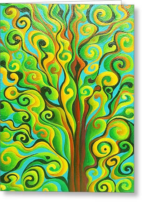 Positronic Spirit Tree Greeting Card