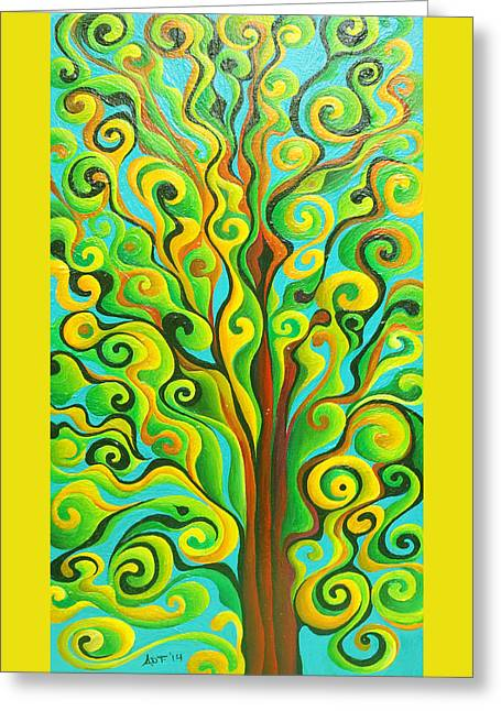 Positronic Spirit Tree Greeting Card