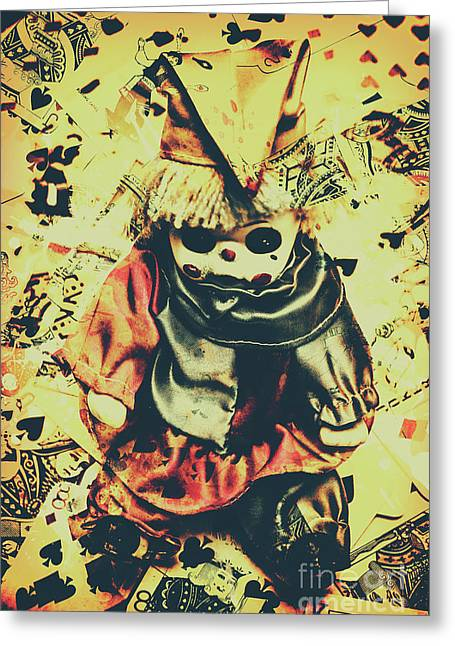 Possessed Vintage Horror Doll  Greeting Card