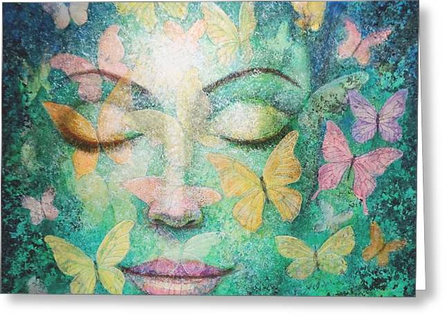 Greeting Card featuring the painting Possibilities Meditation by Sue Halstenberg