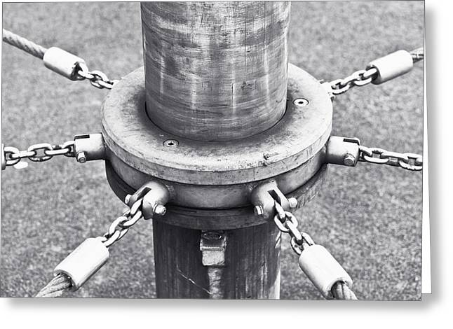 Post And Chains Greeting Card by Tom Gowanlock
