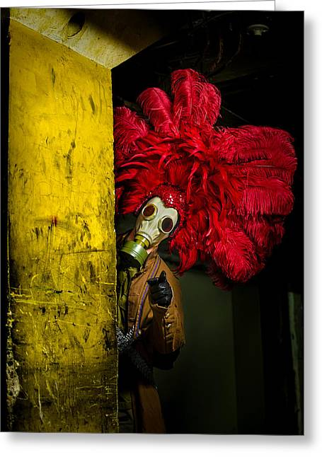 Post Apocalyptic Showgirl Greeting Card