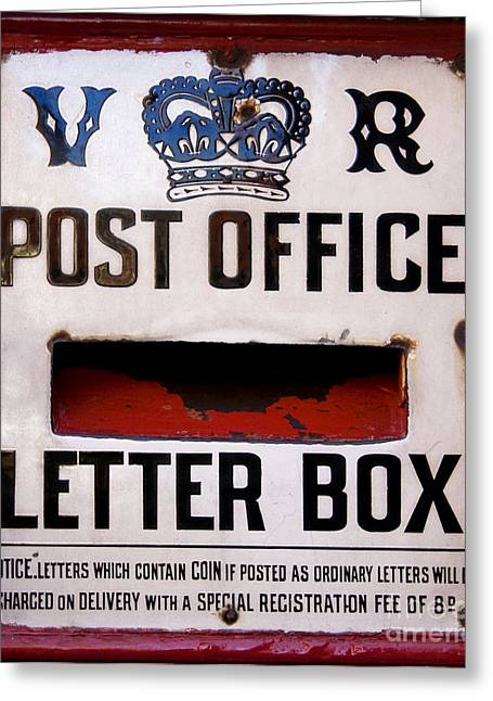Post Box Greeting Card by Jane Rix