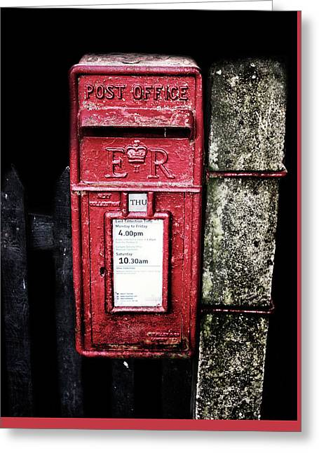 Post Box Greeting Card by Martin Newman