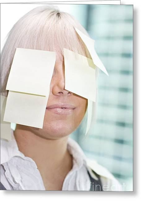 Post It Lady Greeting Card