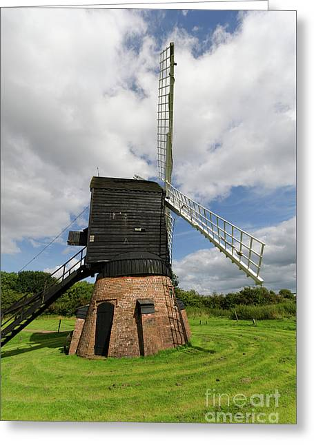 Post Mill Windmill Greeting Card by Steev Stamford