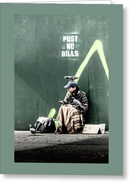 Post No Bills Greeting Card by Marvin Spates