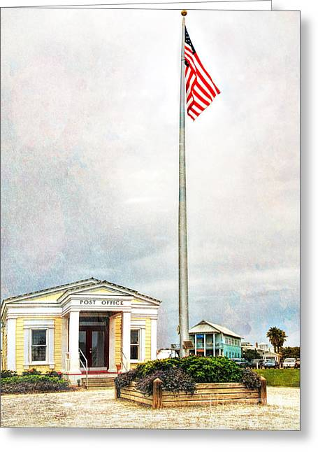 Post Office In Seaside Florida Greeting Card by Vizual Studio
