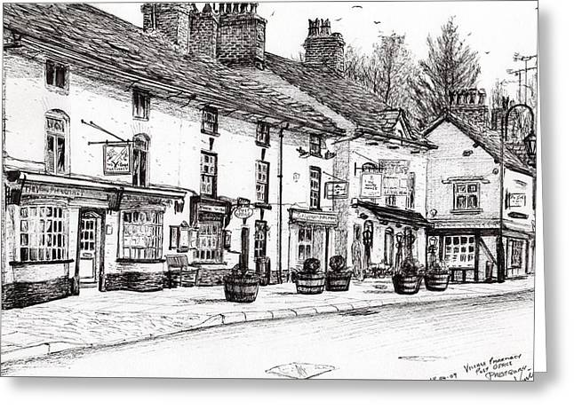 Post Office  Prestbury Greeting Card