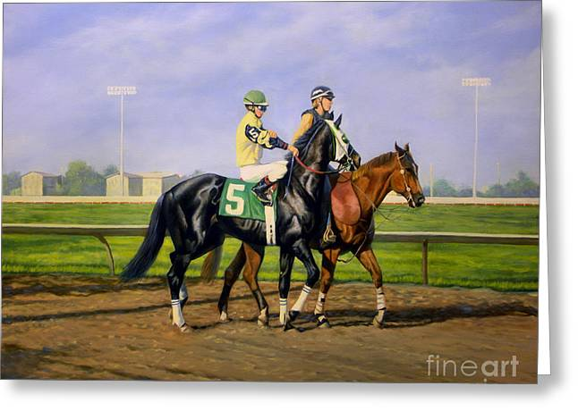 Post Parade Greeting Card by Jeanne Newton Schoborg