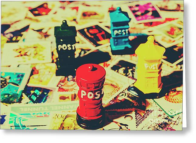 Postage Pop Art Greeting Card by Jorgo Photography - Wall Art Gallery