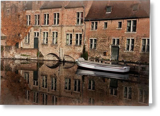 Postcard Canal II Greeting Card by Joan Carroll