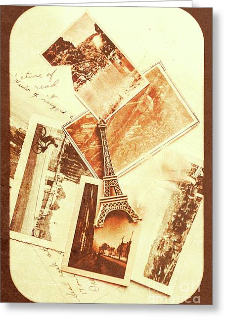 Postcards And Letters From The City Of Love Greeting Card