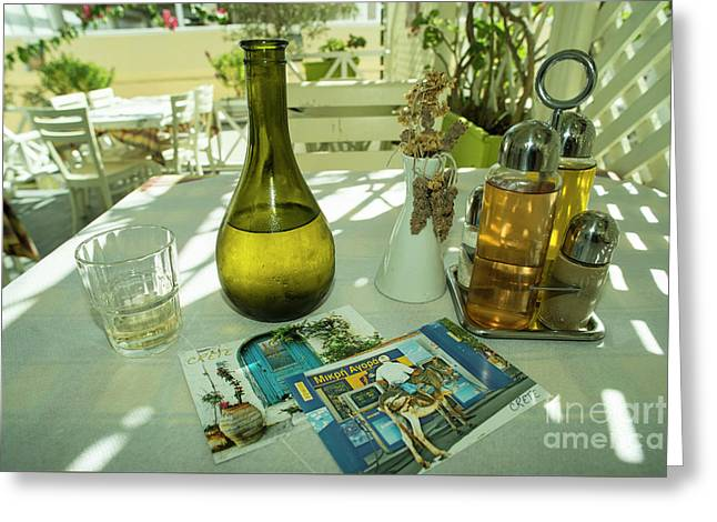 Postcards From Crete  Greeting Card by Rob Hawkins