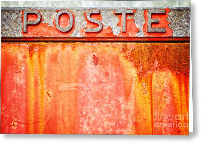 Poste Italian Weathered Mailbox Greeting Card