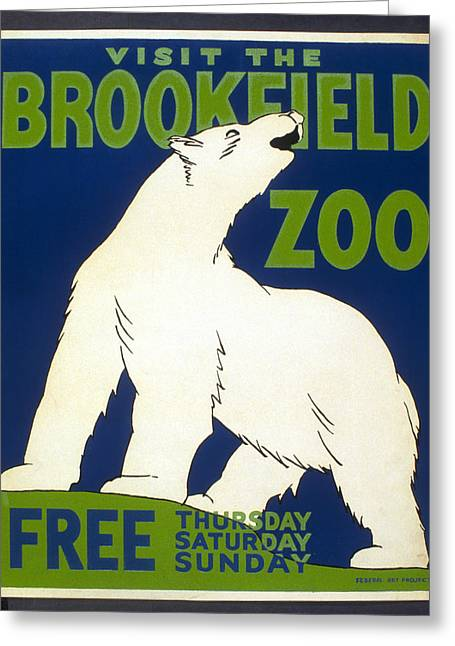 Poster For The Brookfield Zoo Greeting Card by Unknown