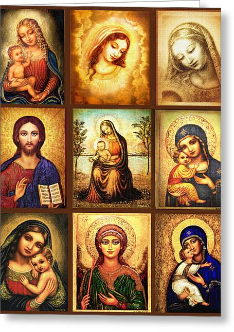 Poster Madonnas 2 Greeting Card by Ananda Vdovic