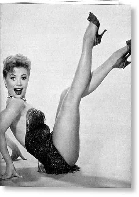 Poster Mitzi Gaynor Greeting Card by Douglas Settle