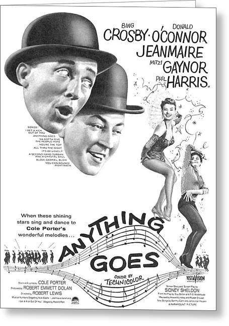 Poster Movie Anything Goes Greeting Card by Douglas Settle