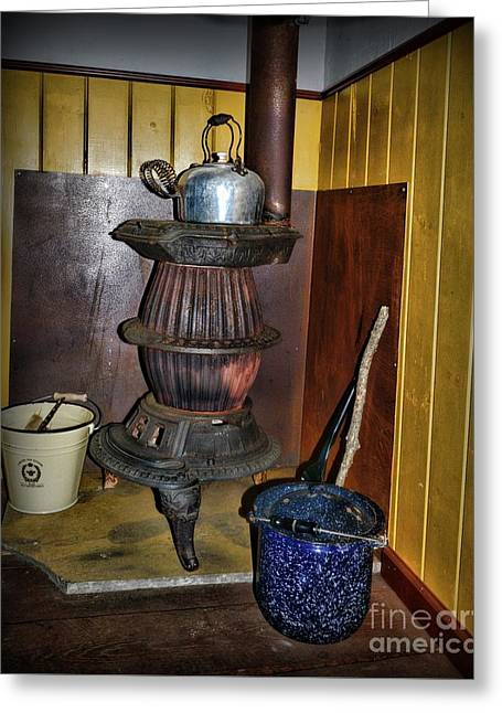 Pot Belly Stove  Greeting Card