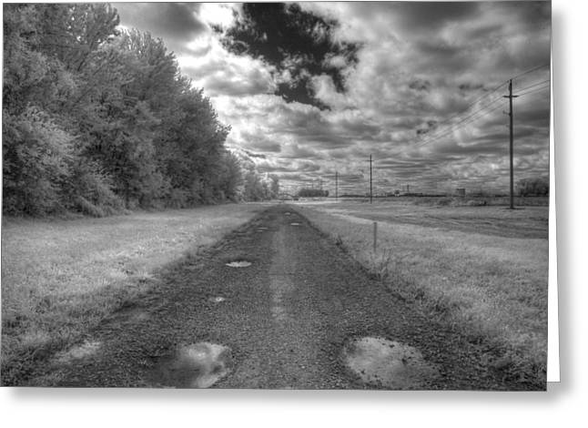 Pot Hole Greeting Card by Jane Linders