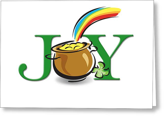 Pot Of Gold Joy Greeting Card by Greg Slocum