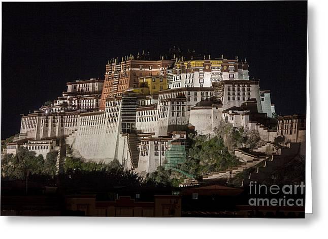 Potala Palace At Night Greeting Card