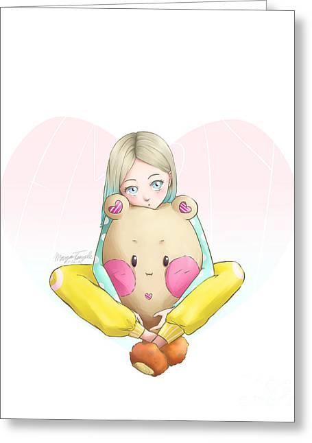 Potato Bear Greeting Card