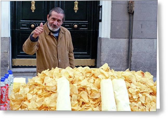 Potato Chip Man Greeting Card