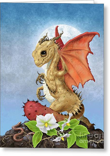 Potato Dragon Greeting Card