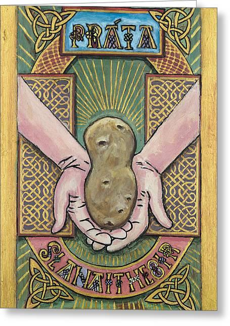 Potato Savior  Prata Slanaitheoir Greeting Card by Pegeen  Shean