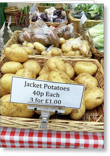 Potatoes At The Market  Greeting Card by Tom Gowanlock