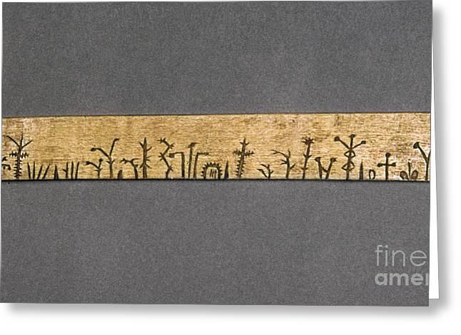 Potawatomi Medicine Stick Greeting Card by Granger