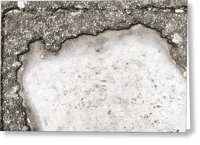 Pothole Greeting Card by Tom Gowanlock