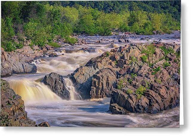 Potomac River At Great Falls Park Greeting Card by Rick Berk