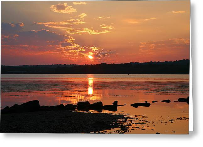 Potomac River Sunrise I  Greeting Card by Steven Ainsworth