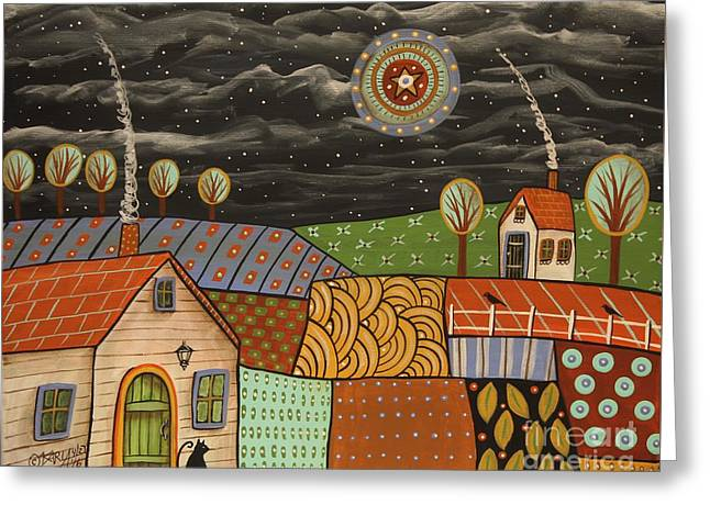 Potpourri Landscape Greeting Card by Karla Gerard